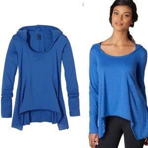 Prana Lauriel Blue Cotton Lightweight Hoodie M